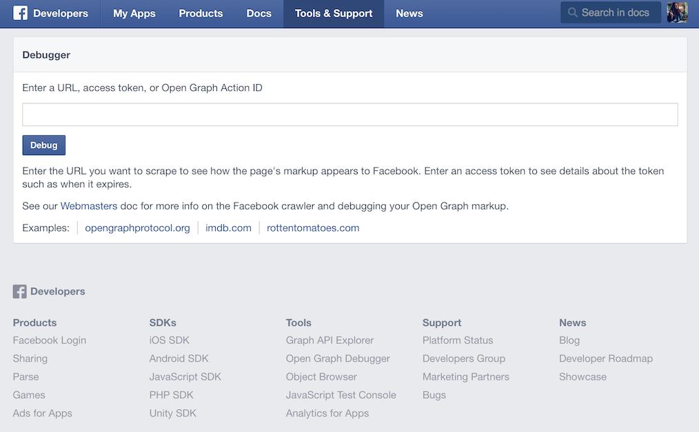 Come fare il debug di un link con Facebook debugger