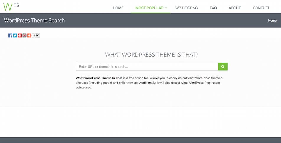 come scoprire il tema e i plugin di un sito in wordpress what wordpress theme is that