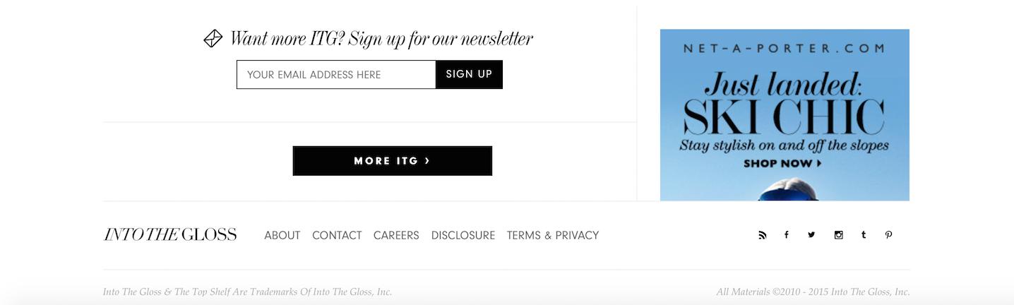 Come organizzare il footer del Blog in WordPress