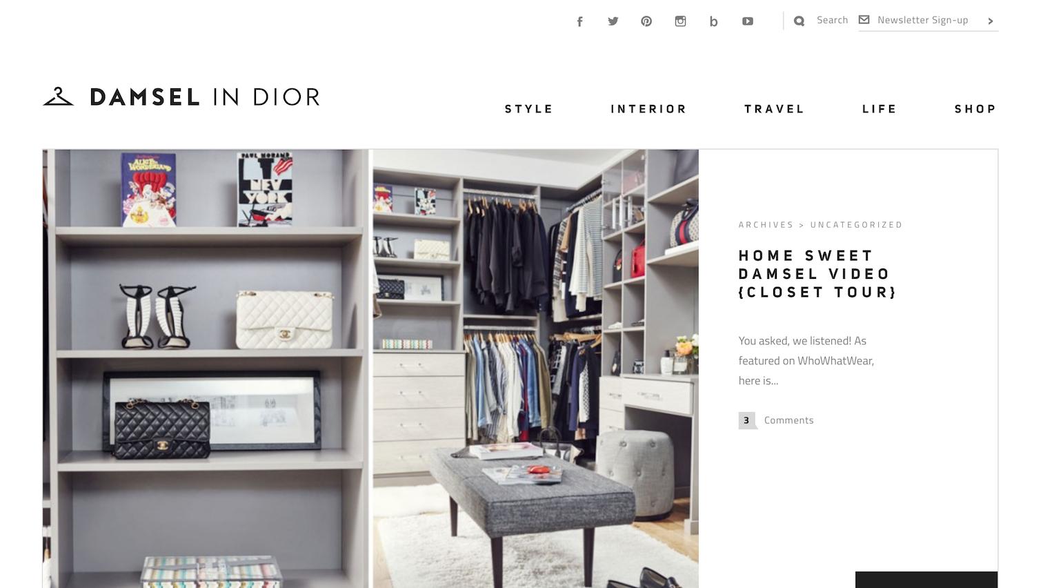 Fashion blogger con un Blog in WordPress
